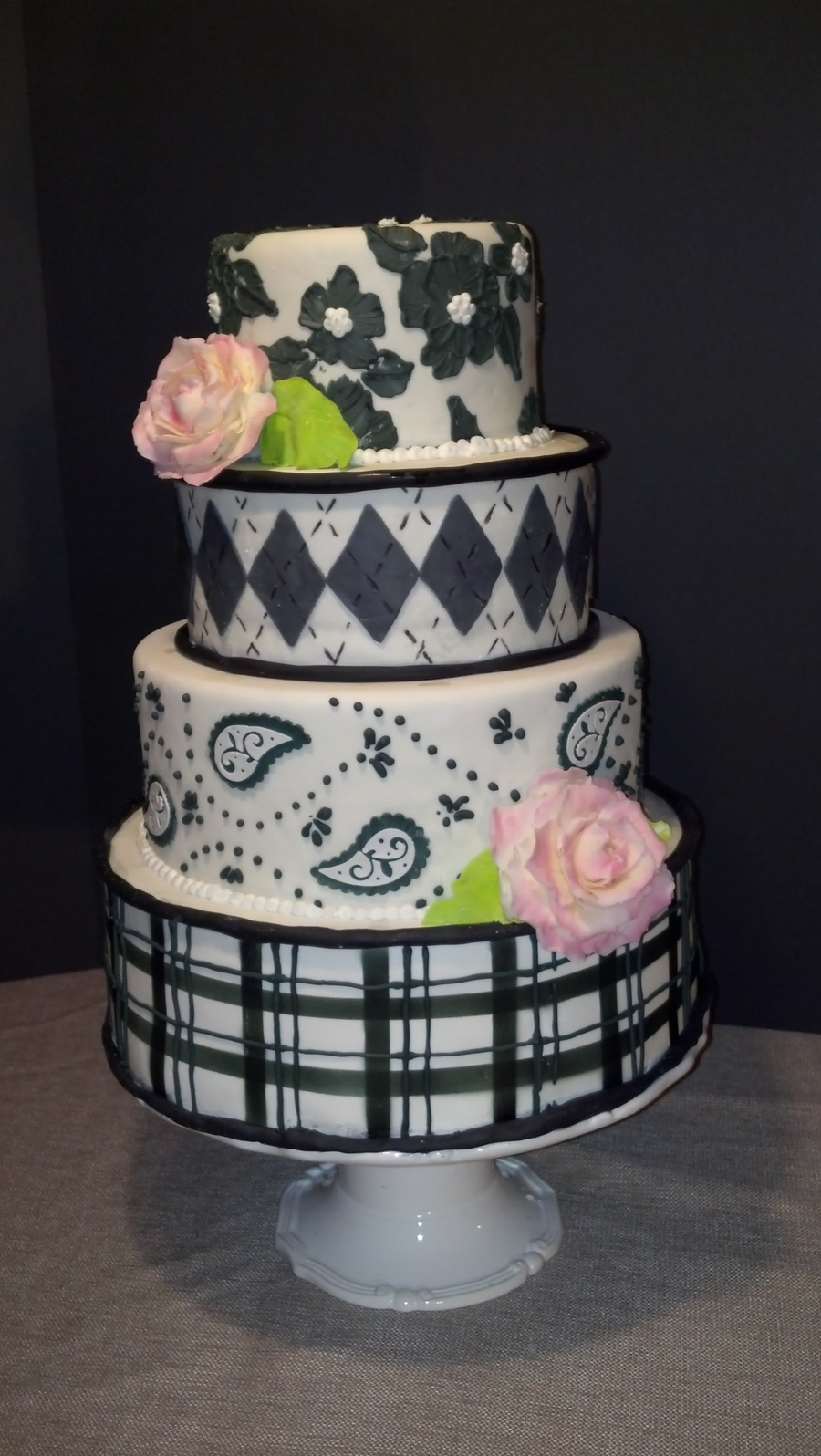 Black And White Print on Cake Central