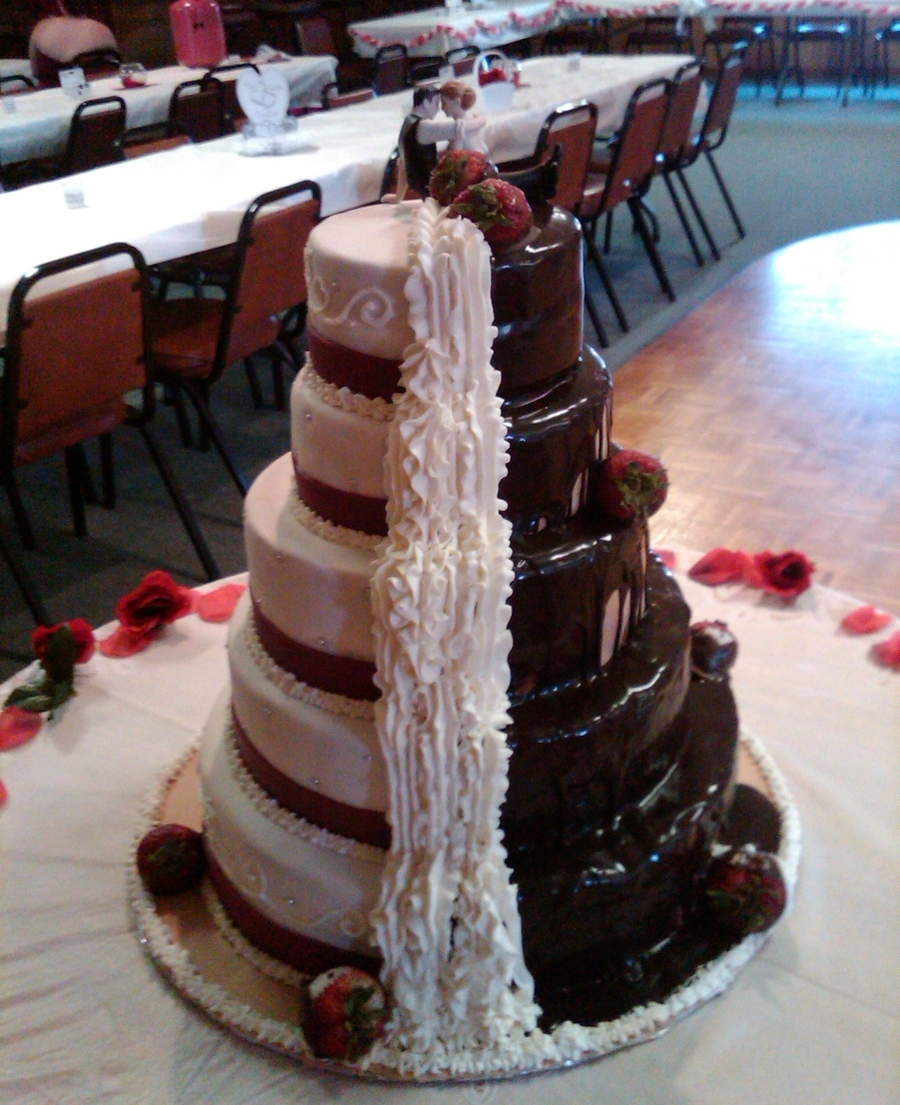 Double Sided Wedding Cake Cakecentral Com