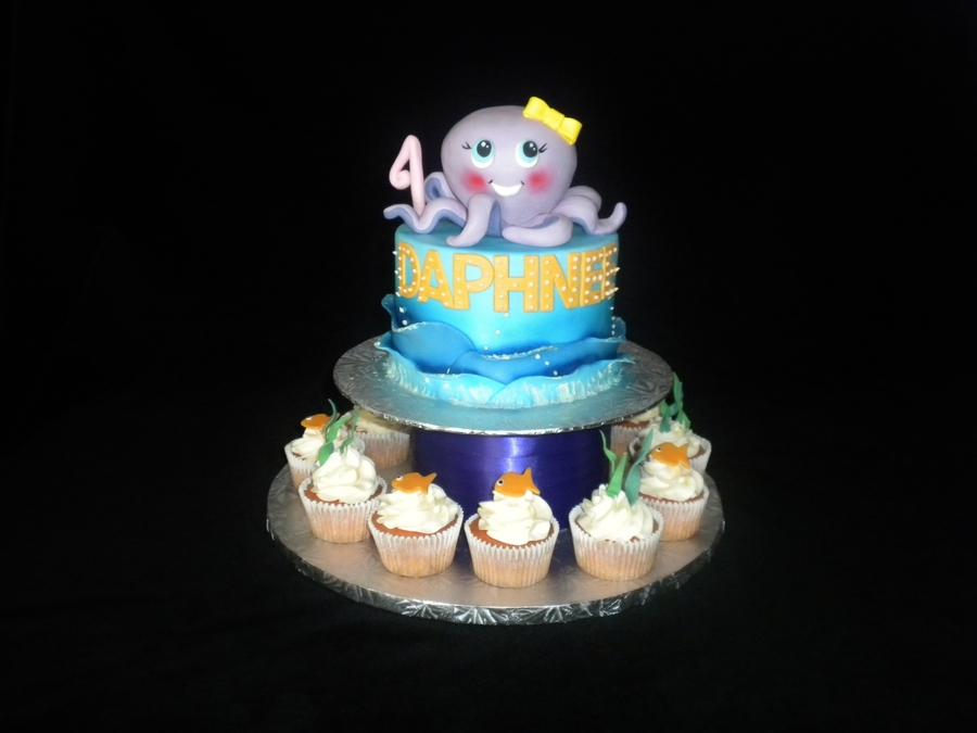 Girly Octopus on Cake Central