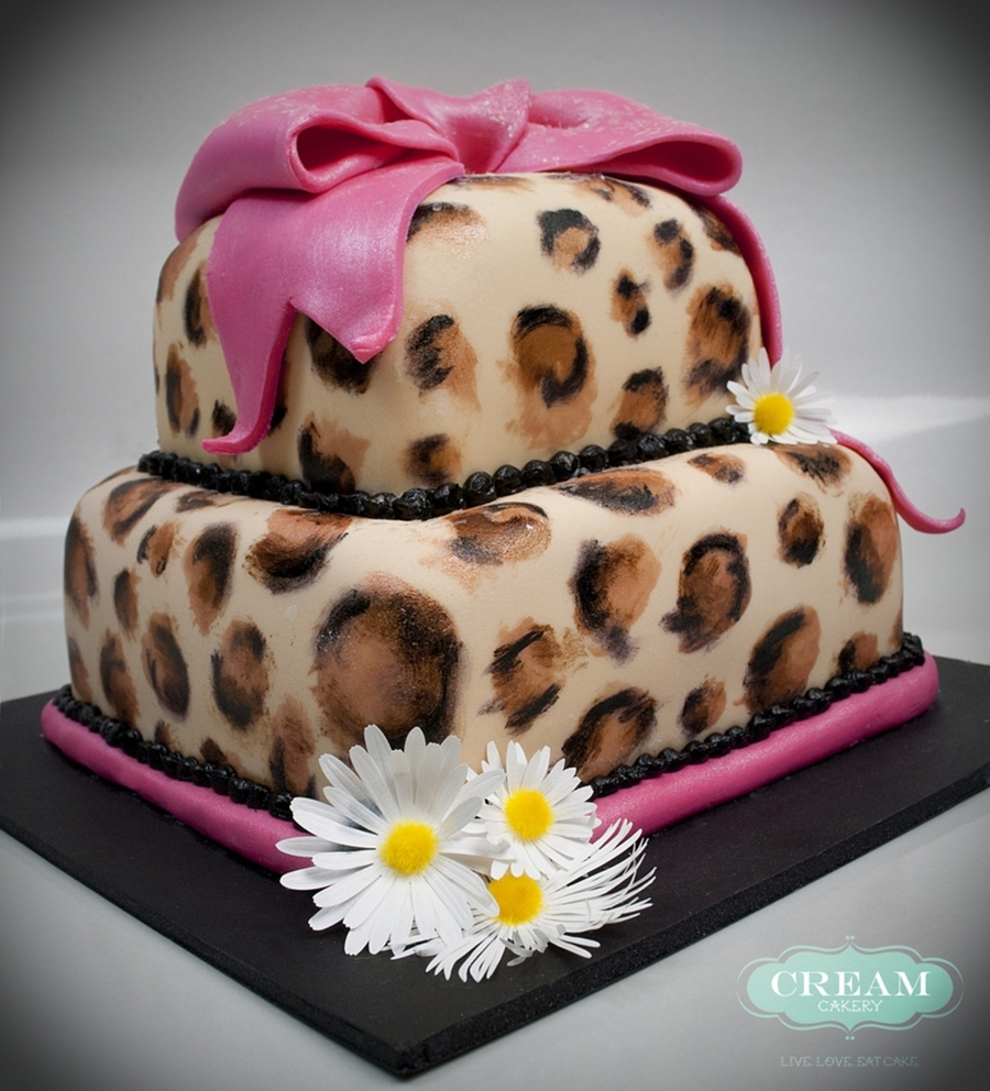 Birthday Cake Pictures To Print : Cheetah Print Birthday Cake - CakeCentral.com