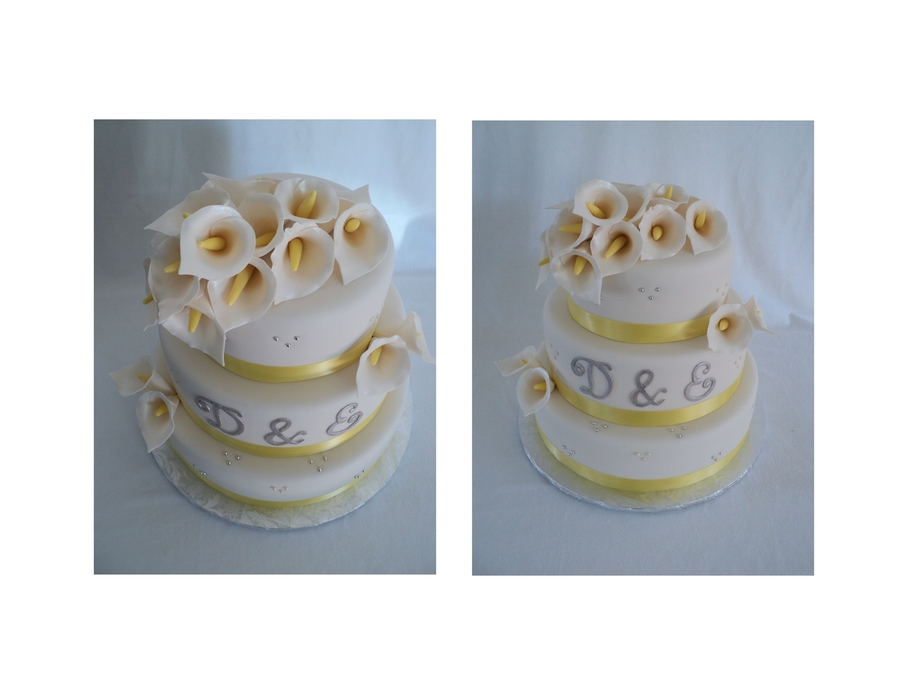 Calla Lily Yellow Wedding on Cake Central