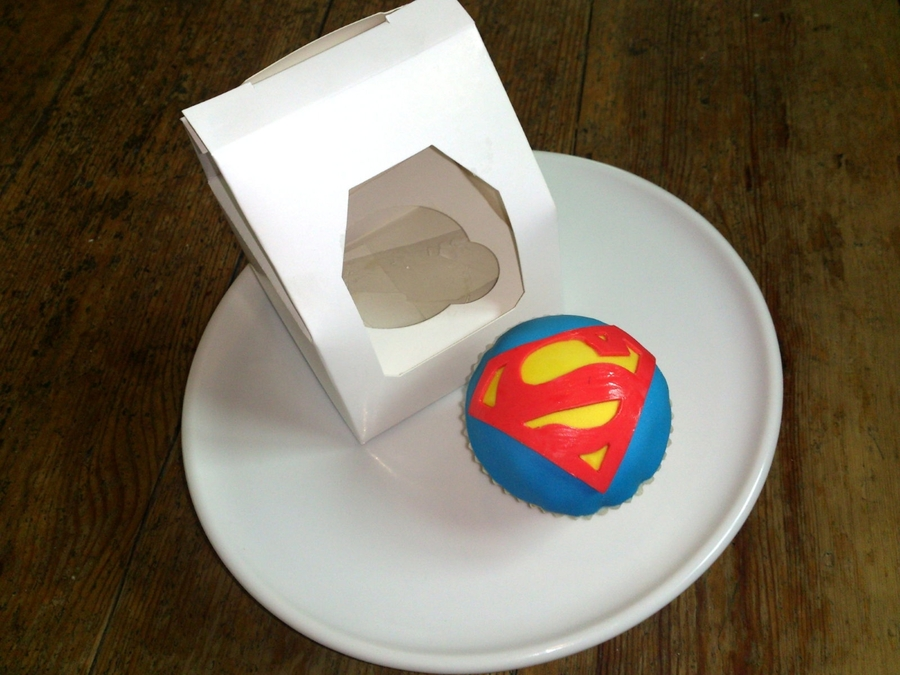 Cupcake Fit For A Superhero Dad...... on Cake Central