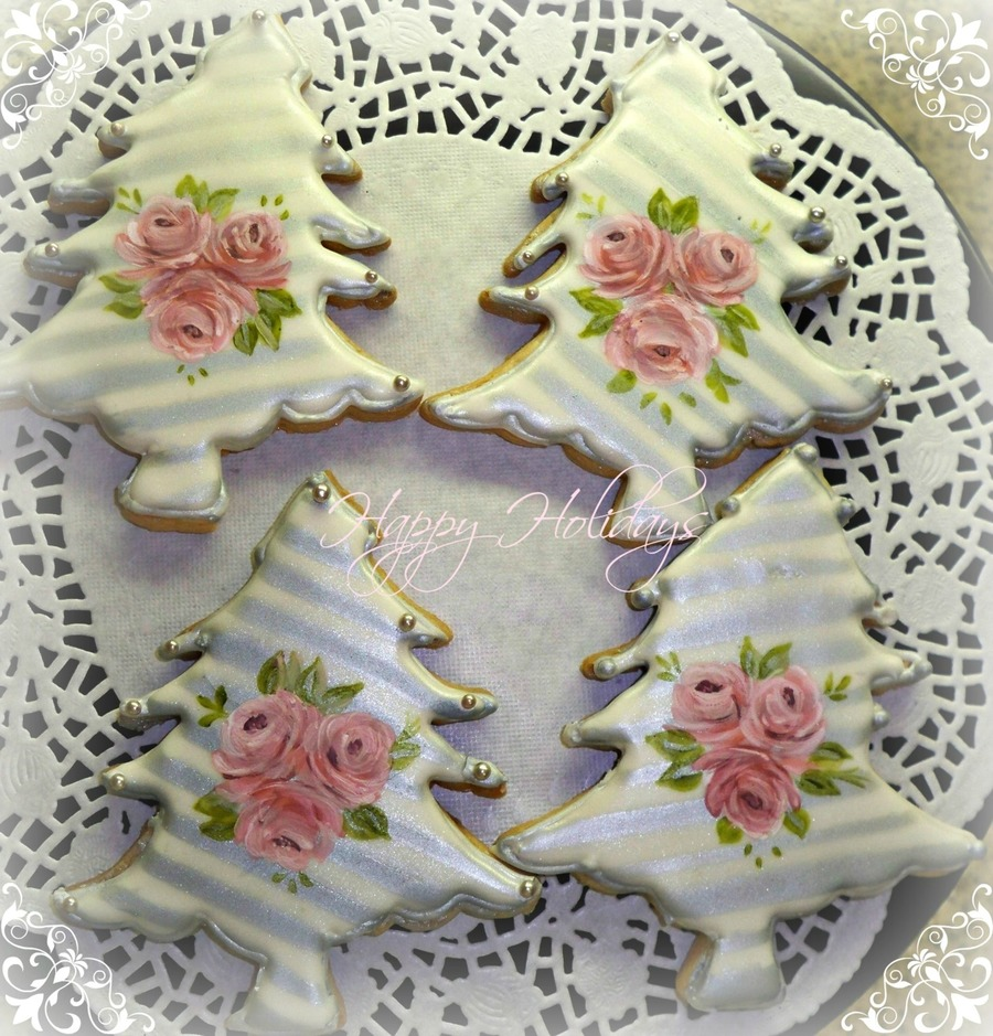 Hand Painted Silver Christmas Sugar Cookies on Cake Central