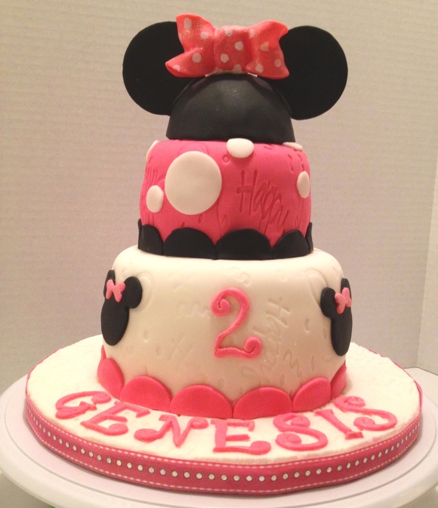 Pleasing Minnie Mouse Birthday Cake Cakecentral Com Funny Birthday Cards Online Eattedamsfinfo