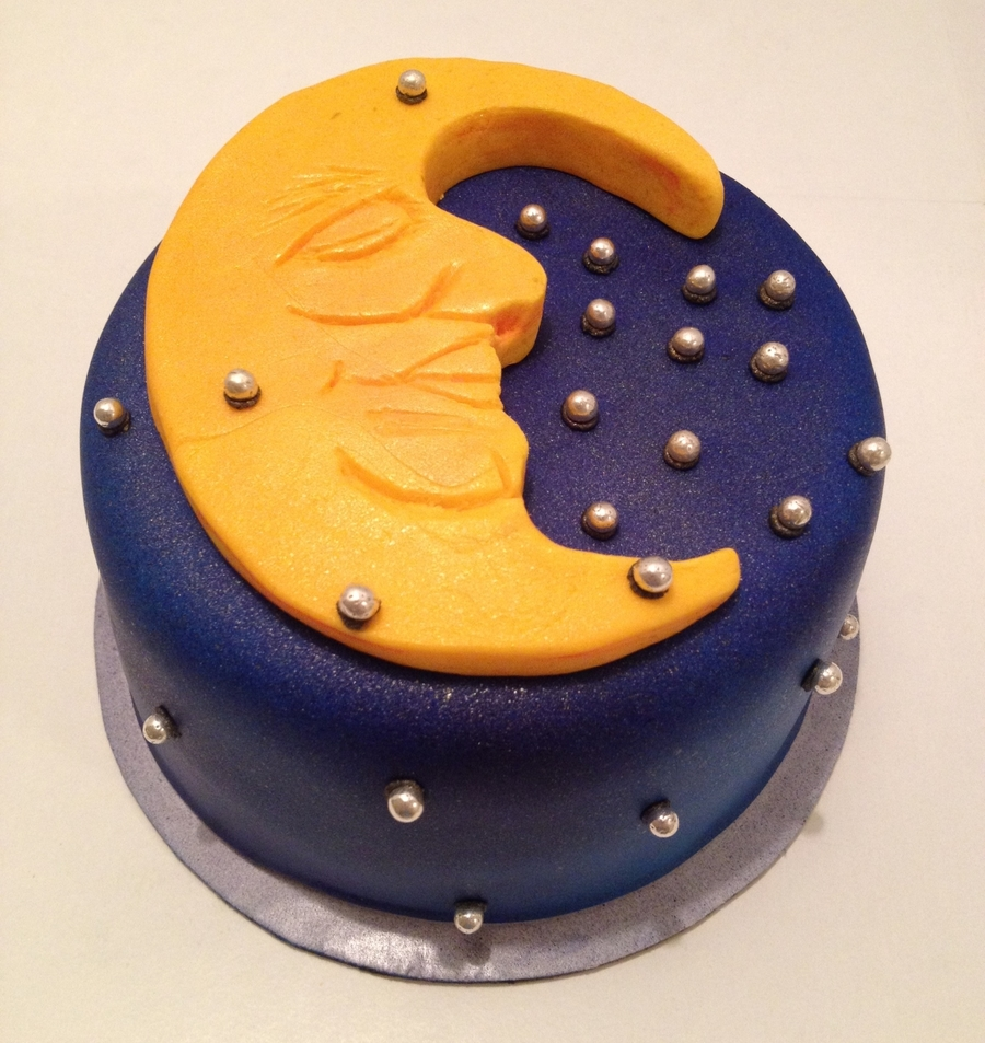 Celestial Moon Birthday Cake on Cake Central