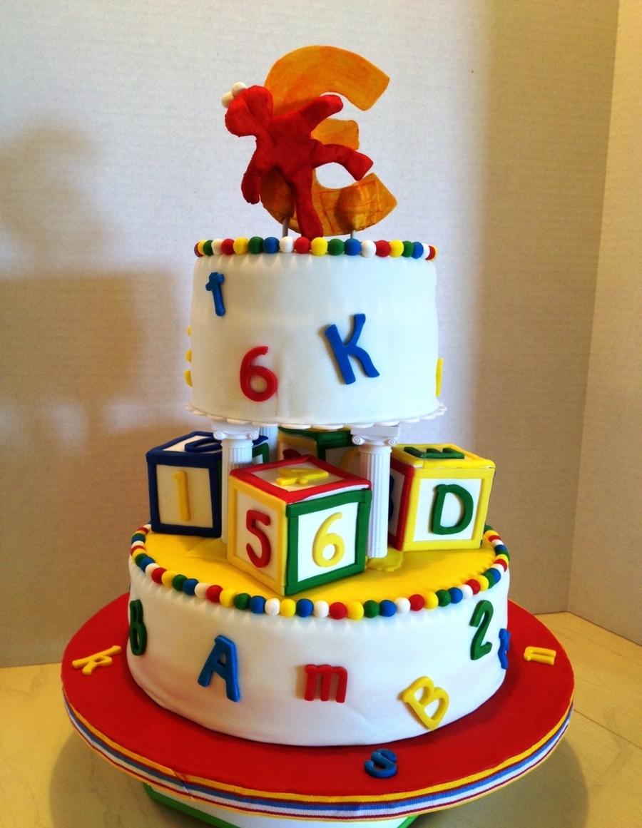 Elmo Birthday Cake Fondant CakeCentralcom