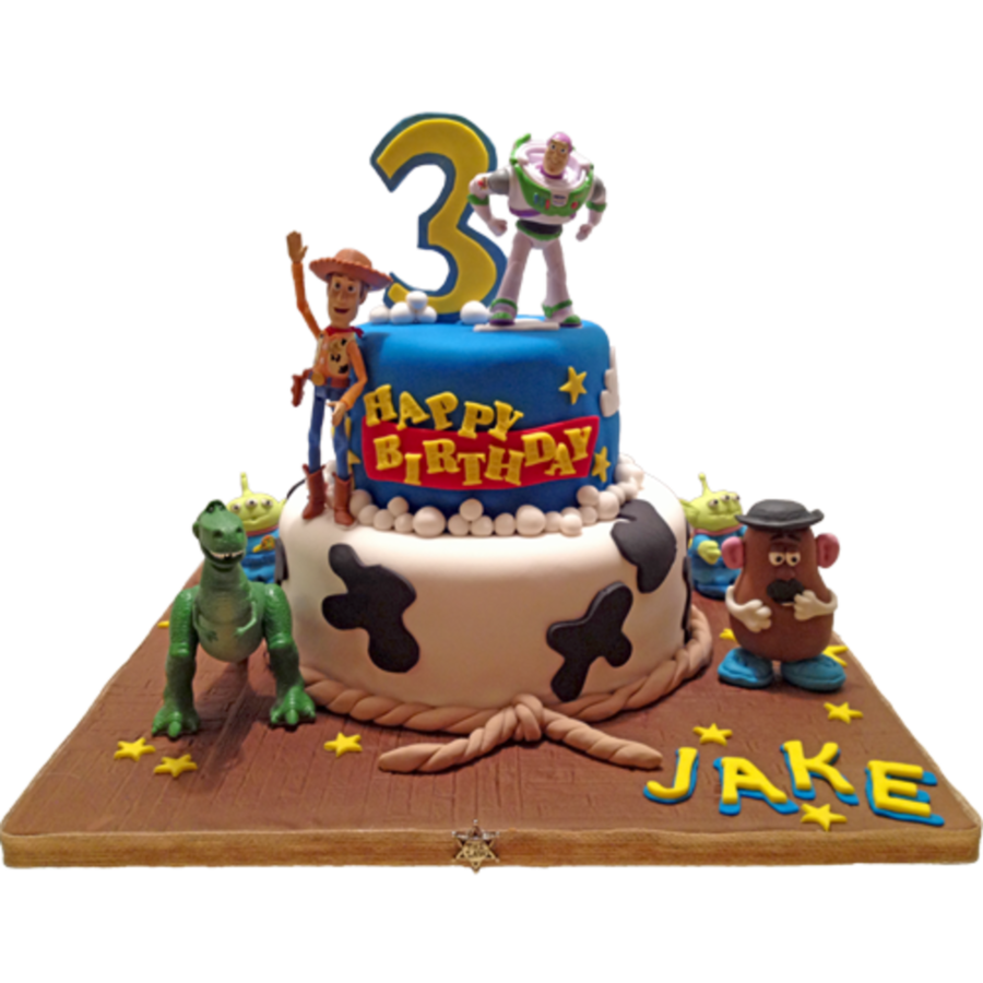 Prime Disney Toy Story Birthday Cake Gumpaste Characters And Store Funny Birthday Cards Online Fluifree Goldxyz