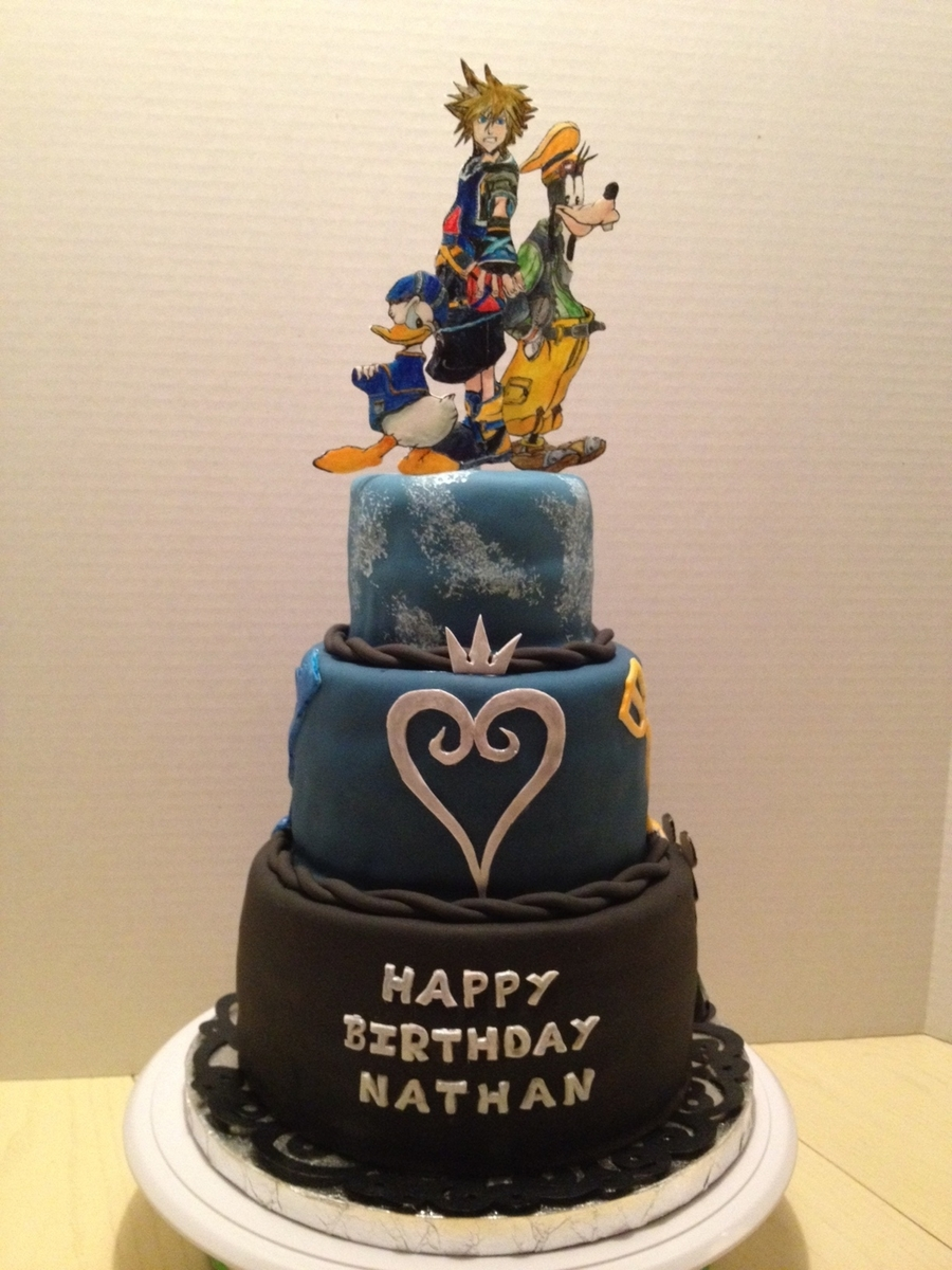 Kingdom Hearts Birthday Cake Cakecentral Com