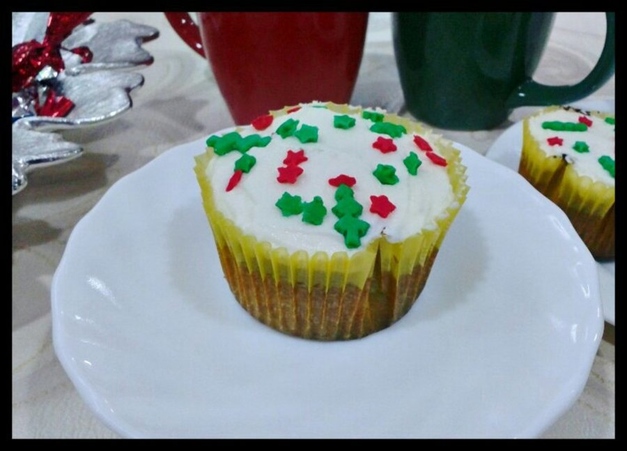 Christmas Cake Cupcakes on Cake Central