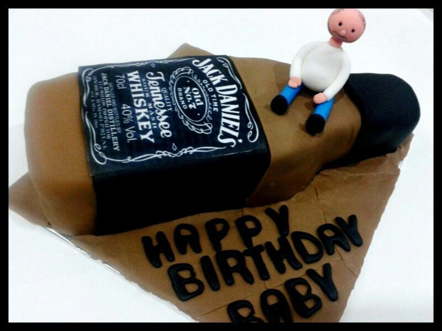 Jack Daniels Birthday Theme Cake CakeCentralcom