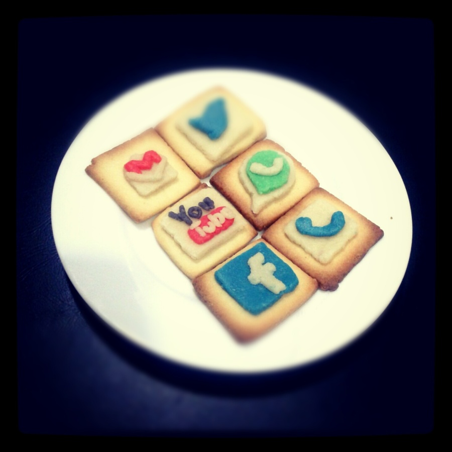 App Icons Themed Sugar Cookies on Cake Central
