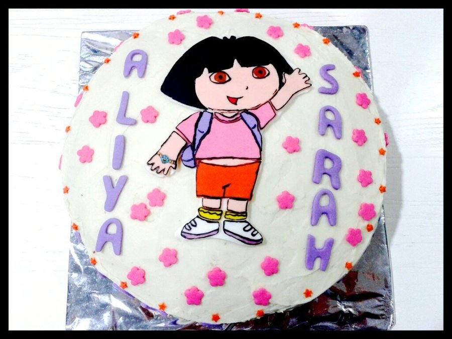 Dora The Explorer Themed Chocolate Cake 2 on Cake Central