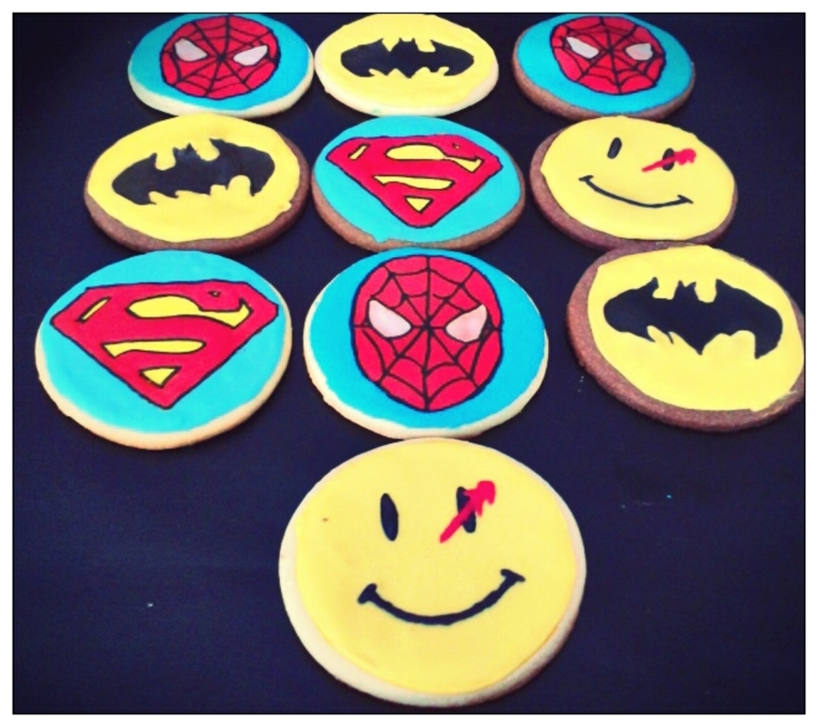 Comic Themed Sugar And Chocolate Cookies  on Cake Central