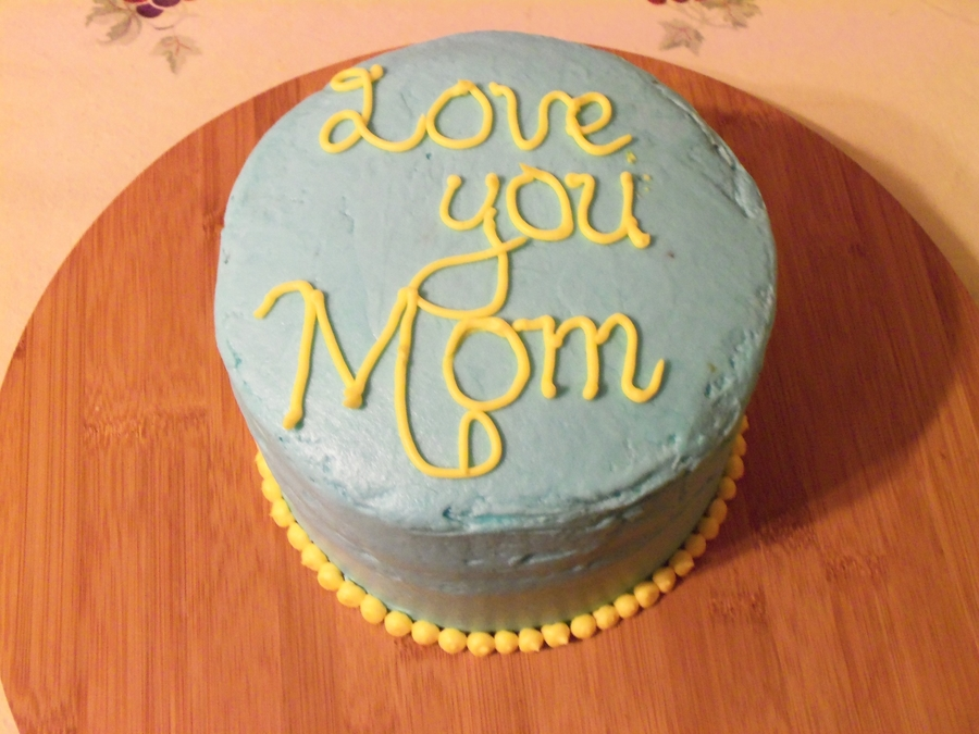 Simple Cake For A Mom on Cake Central