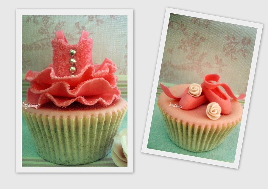 Ballet Cupcakes Fondant Tutu And Shoes on Cake Central