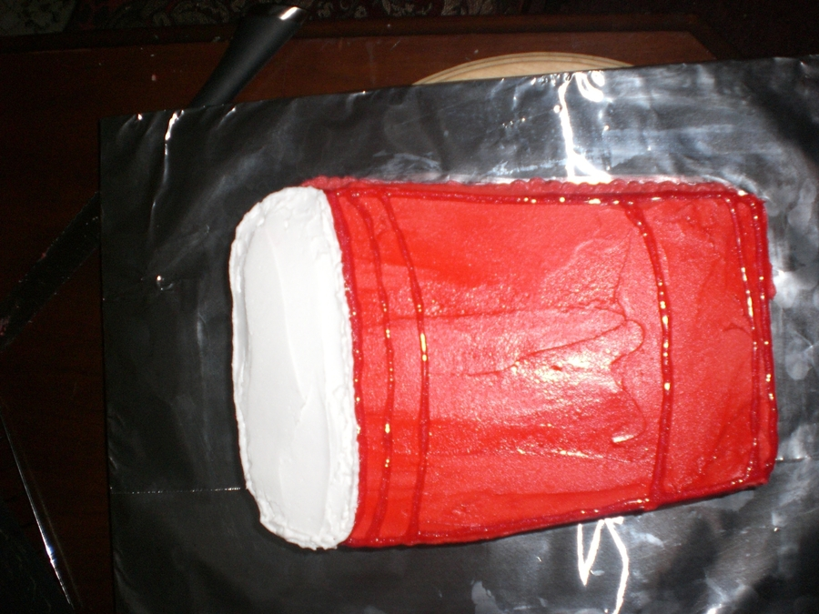 Red Solo Cup on Cake Central