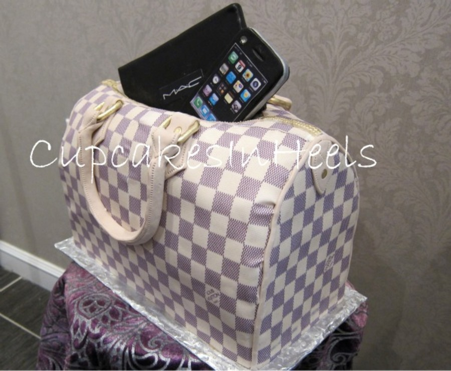 Louis Vuitton Damier Azur Canvas Speedy Bag Cake on Cake Central