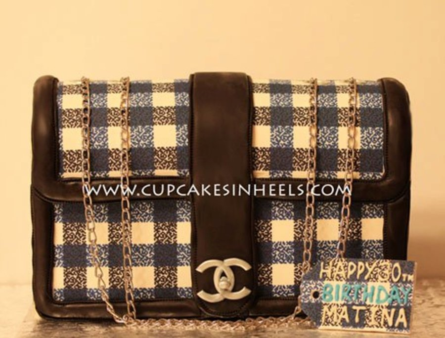 Chanel Tweed Bag on Cake Central