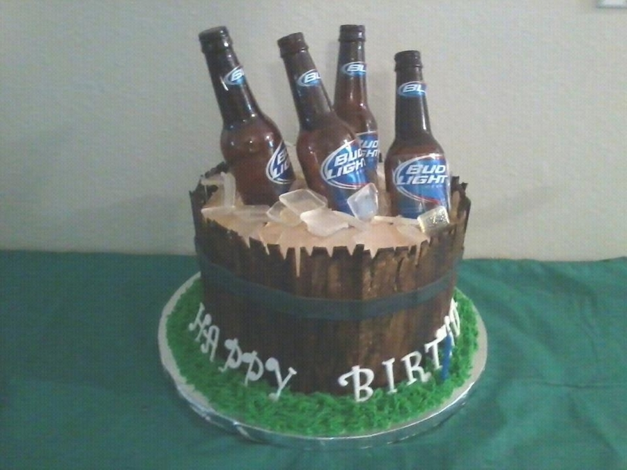 Beer Bucket Cake on Cake Central
