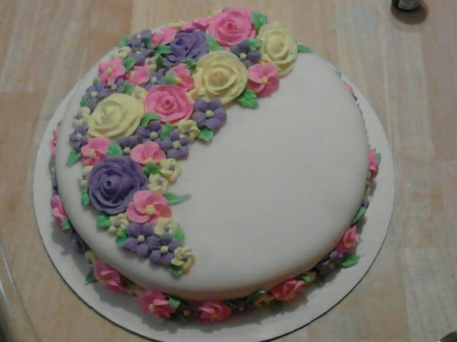 Superb 1St Flower Cake Cakecentral Com Funny Birthday Cards Online Hetedamsfinfo
