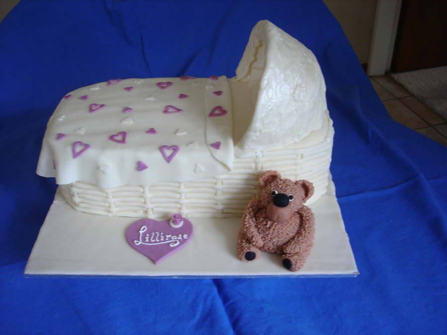 Christening Cake With George The Bear  on Cake Central
