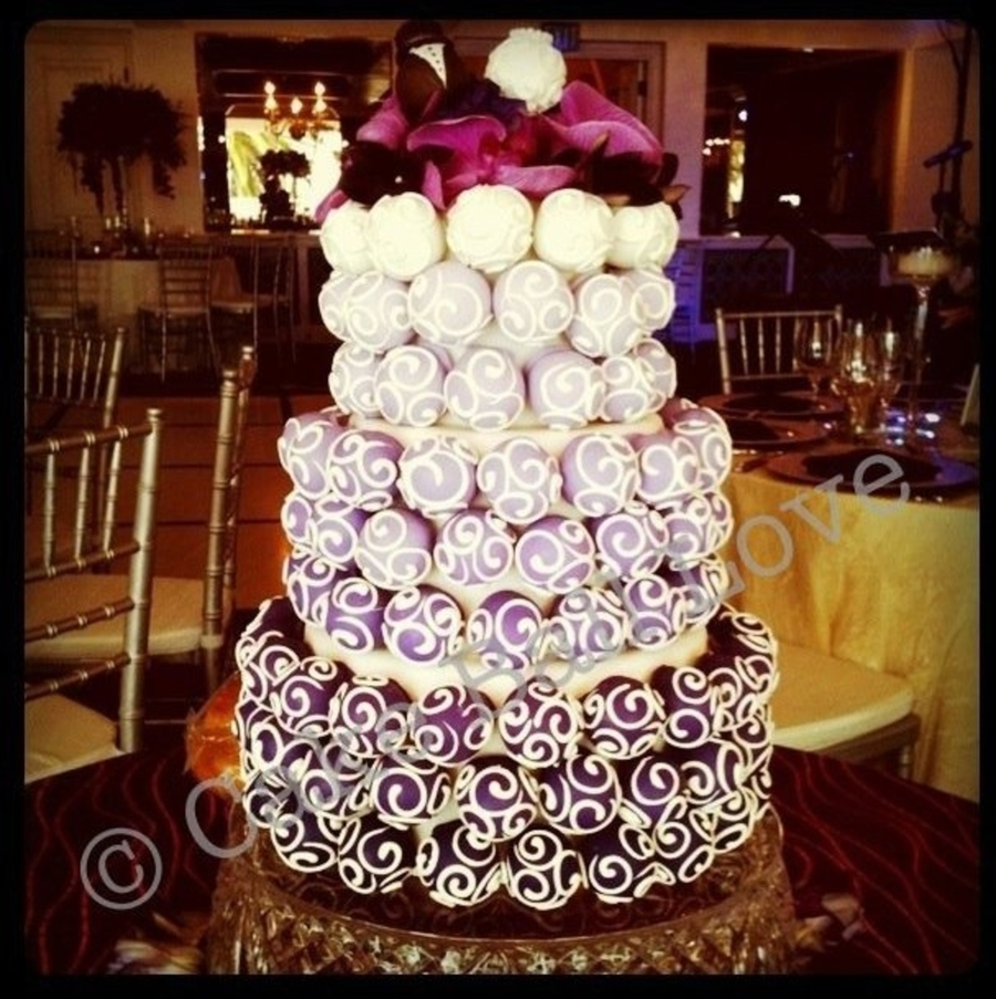 Purple Ombre Cake Ball Cake on Cake Central