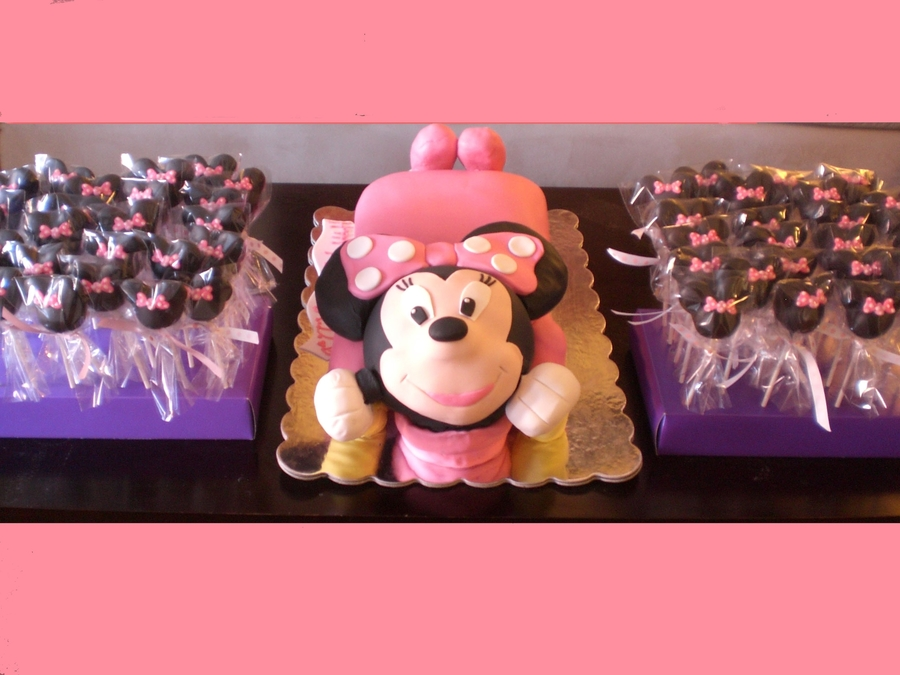 Minnie Mouse Cake & Cake Pops on Cake Central