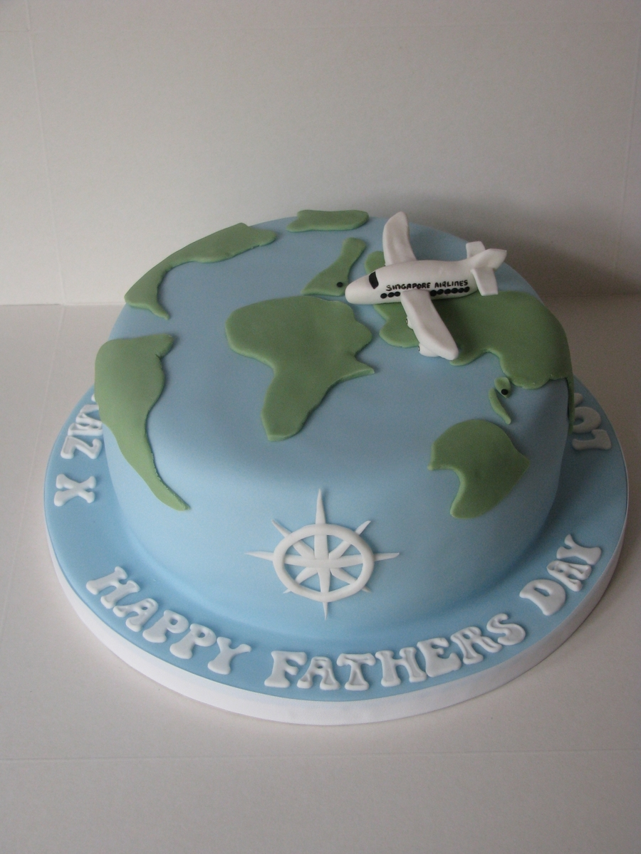 World Map Travel on Cake Central