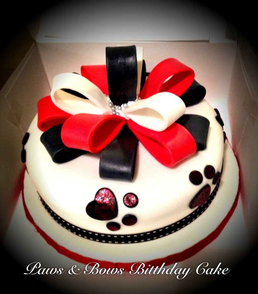 Bows & Paws Birthday Cake on Cake Central