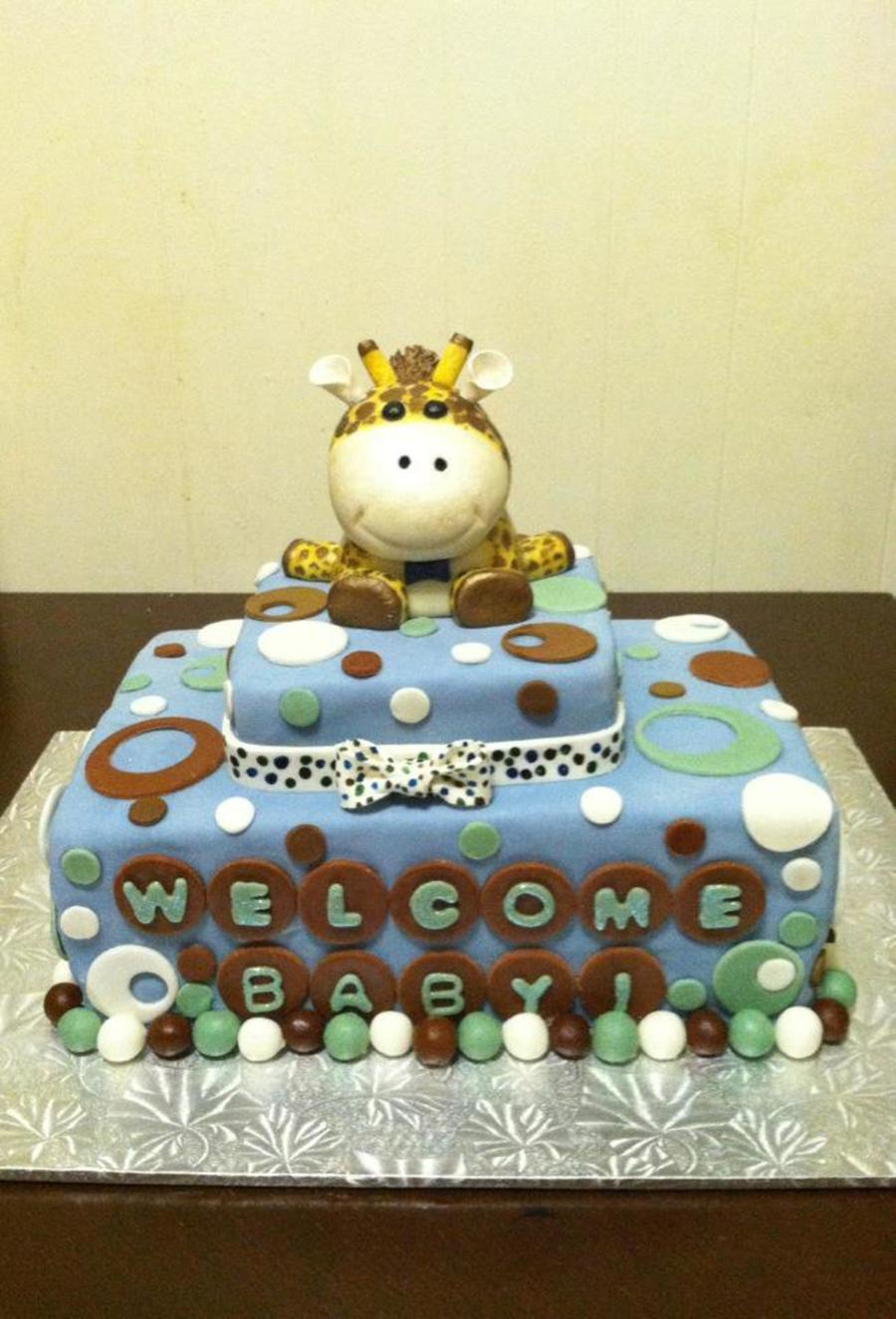 Baby Shower Giraffe Cake Topper on Cake Central
