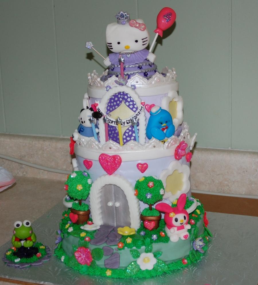 Hello Kitty Princess Castle Cake - CakeCentral.com