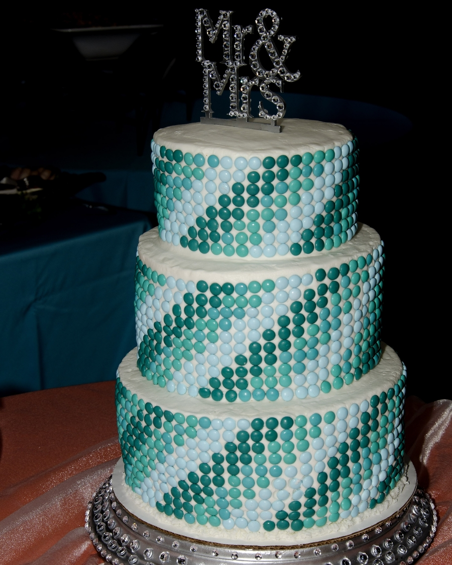 m s wedding cakes 2 m amp m wedding cake cakecentral 17638
