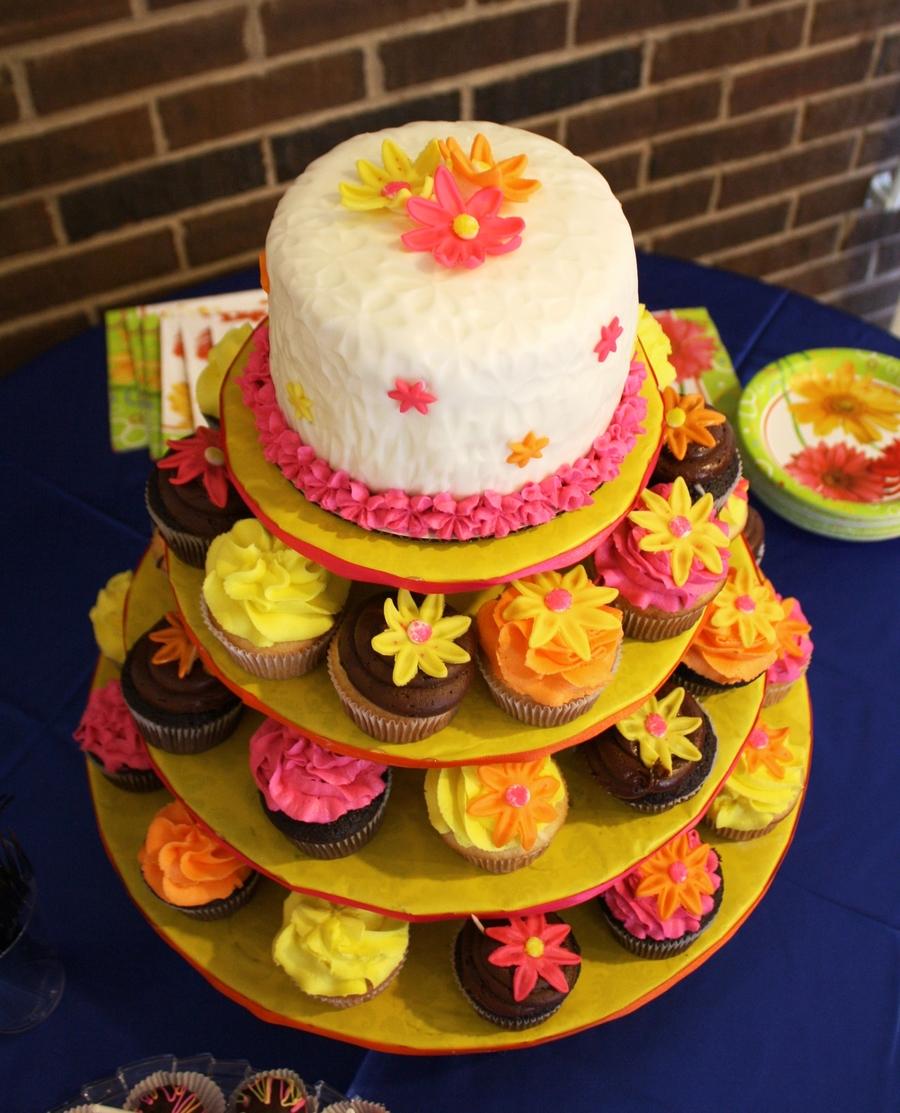 bridal shower cupcake tower w matching cake pops cakecentralcom