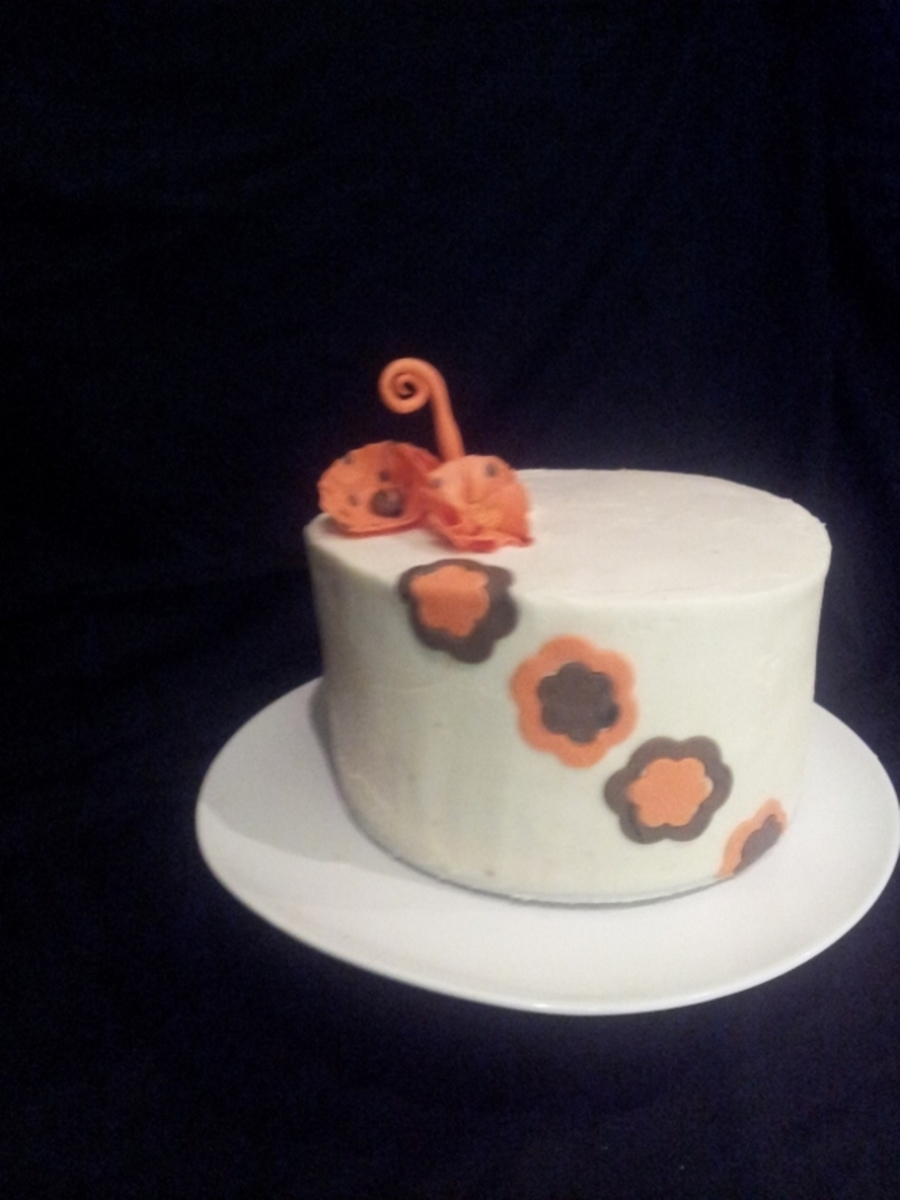Orange And Brown Round on Cake Central
