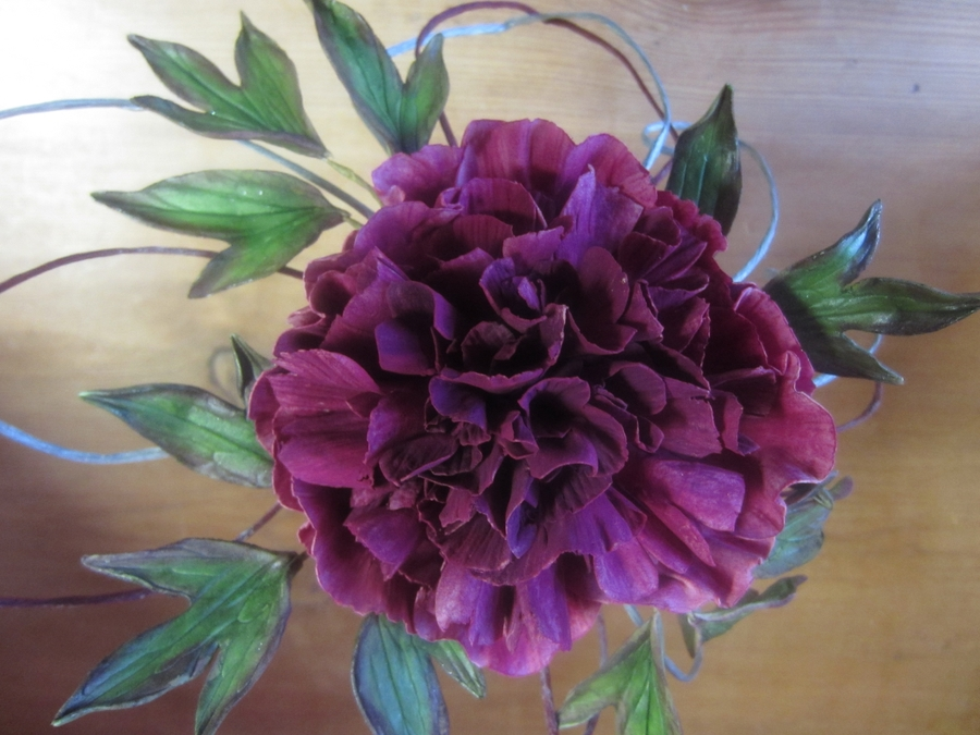 Purple Peony  on Cake Central