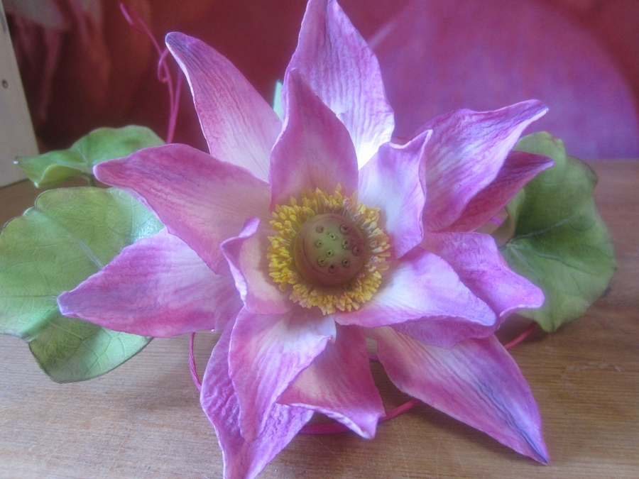 Lotus Flower Made At An Alan Dunn Class Last Month on Cake Central