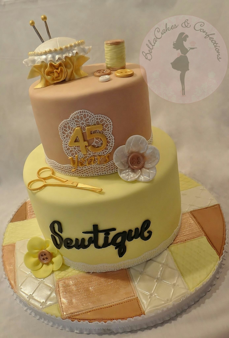 Sewing Theme Cake on Cake Central