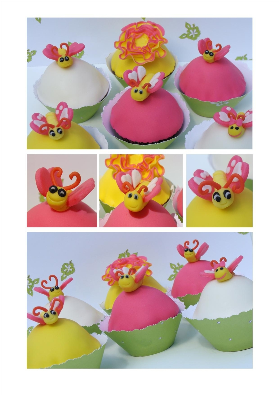 Smiling Bright Butterfly Cupcakes on Cake Central