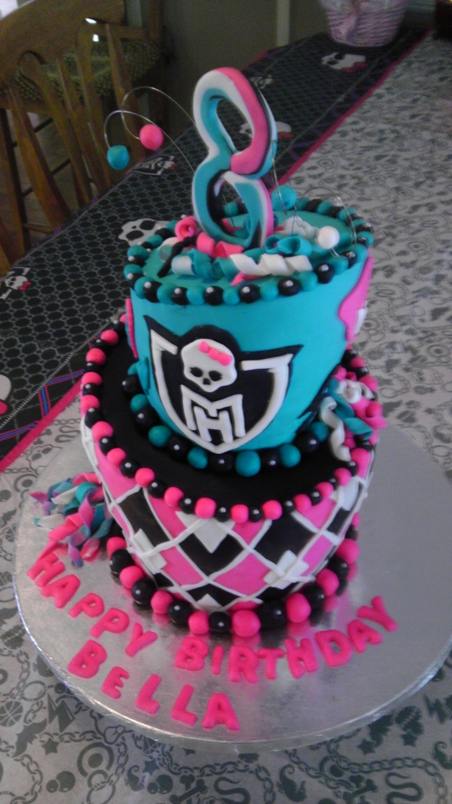 Remarkable Monster High Theme Cake Cakecentral Com Funny Birthday Cards Online Chimdamsfinfo