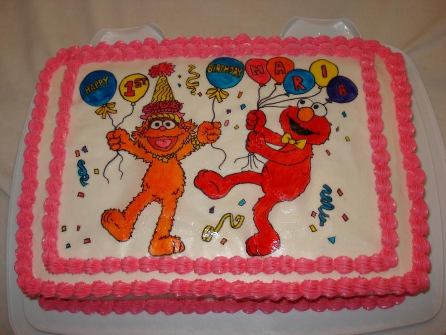 Elmo And Zoe Cake - CakeCentral.com