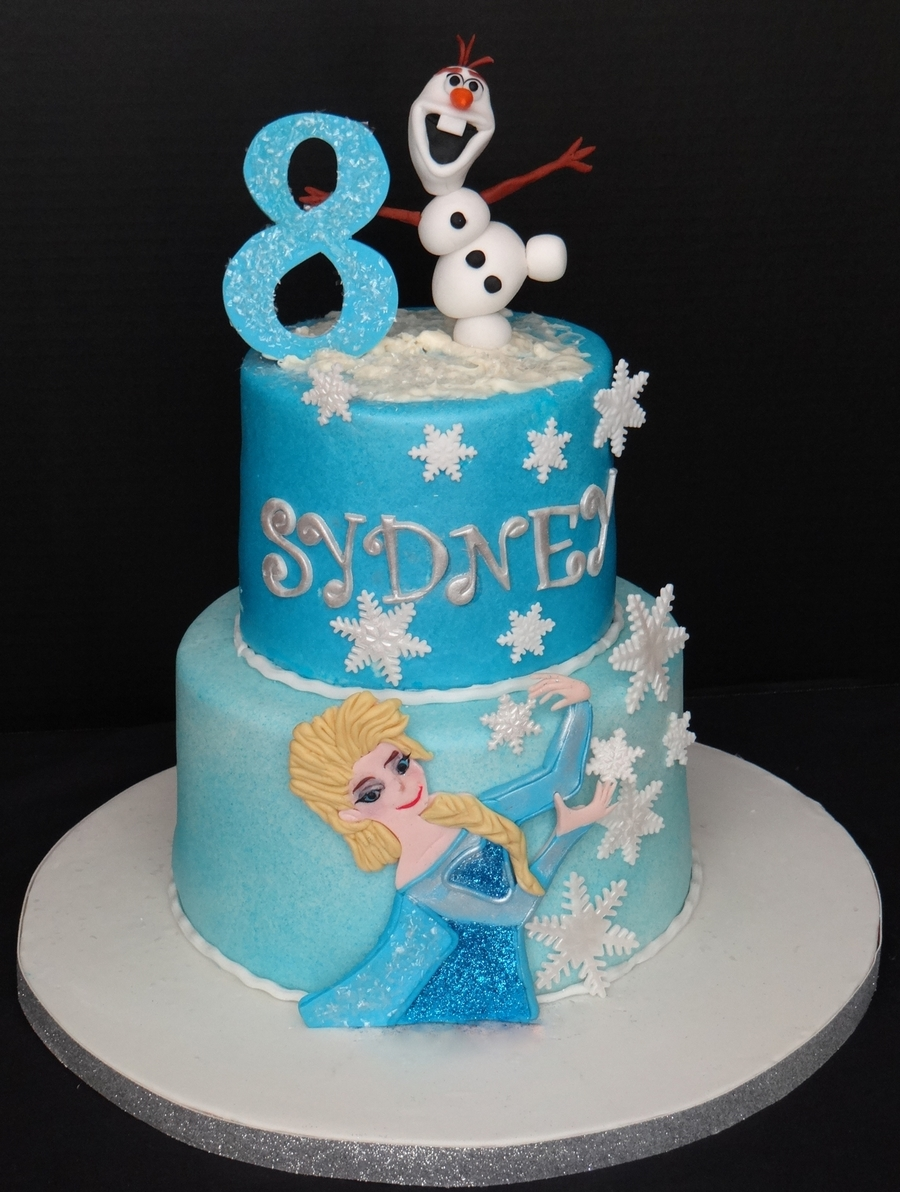 Cool Frozen Theme Birthday Cake Cakecentral Com Funny Birthday Cards Online Elaedamsfinfo