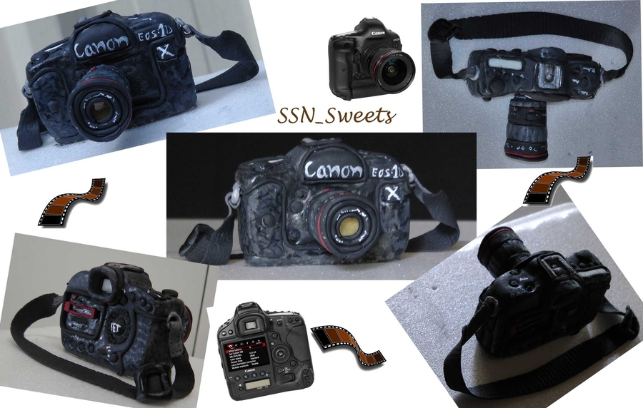 Camera Topper : Canon Eos-1D X on Cake Central