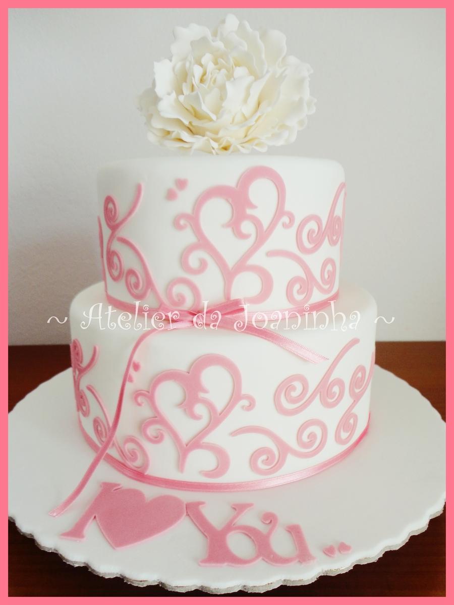 Pink Wedding Cricut Cake Cakecentral Com