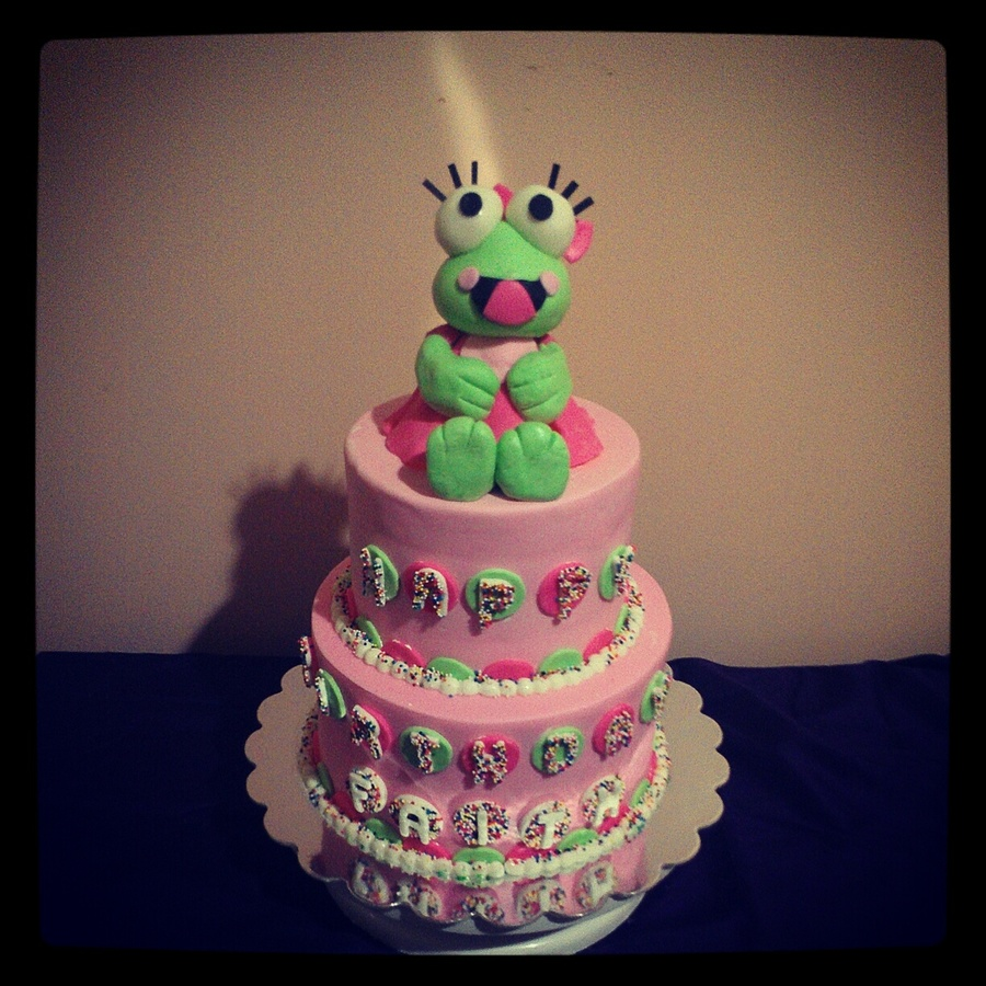 Cake For A Birthday Party Celebrated At Sweet Frog Not Only Were The