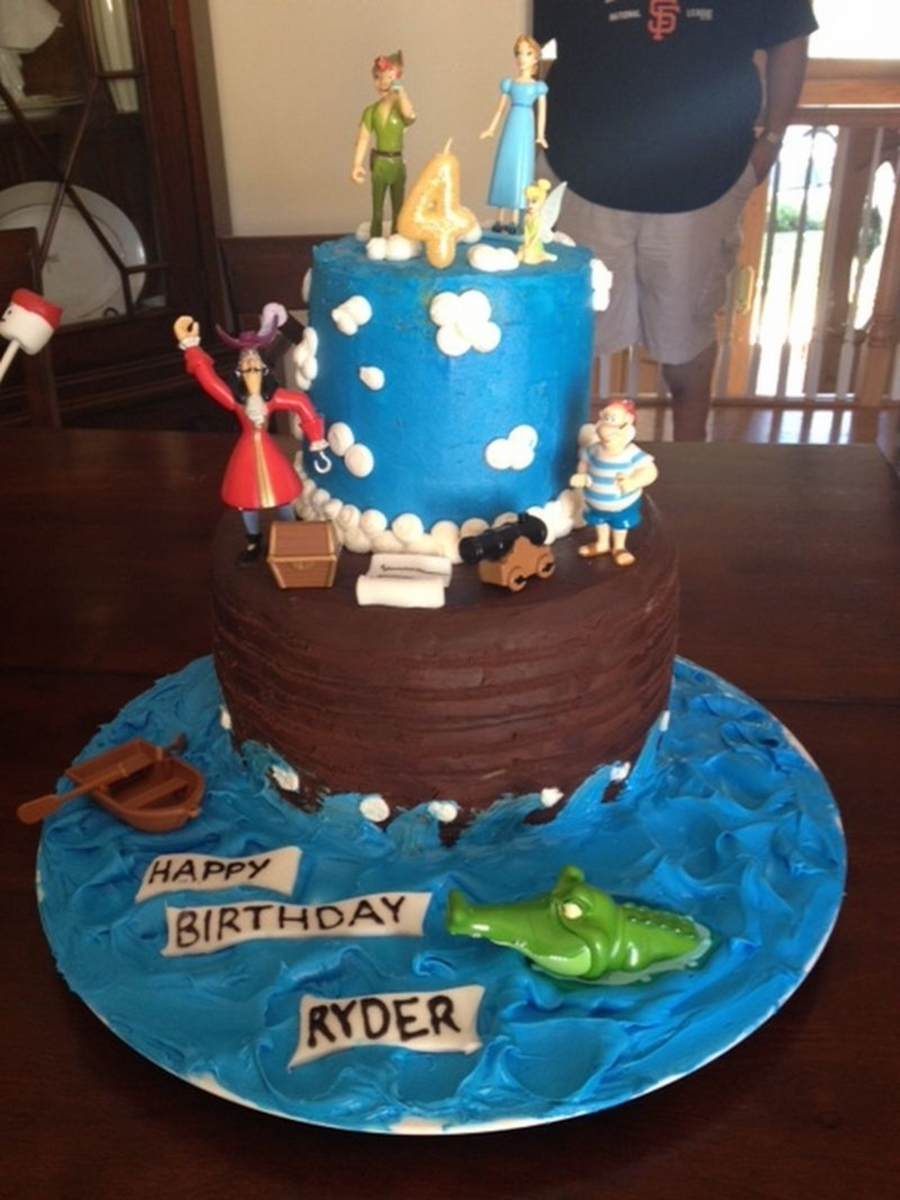 Tremendous Peter Pan Birthday Cake Cakecentral Com Personalised Birthday Cards Beptaeletsinfo