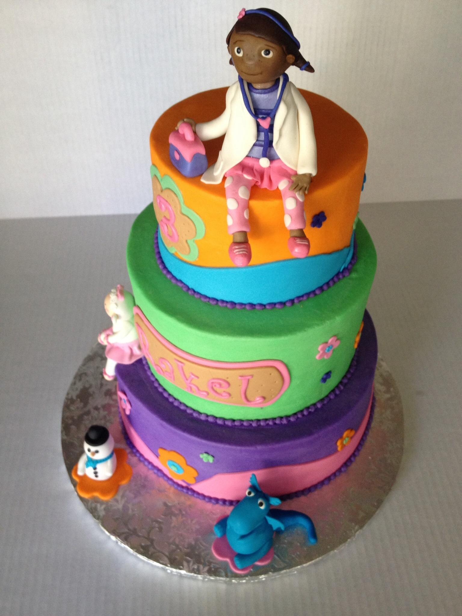 Doc Mcstuffins Fondant And Gum Paste Figures Cake Covered ...
