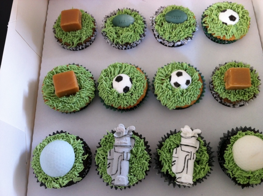 Mixed Fathers Day Cupcakes on Cake Central