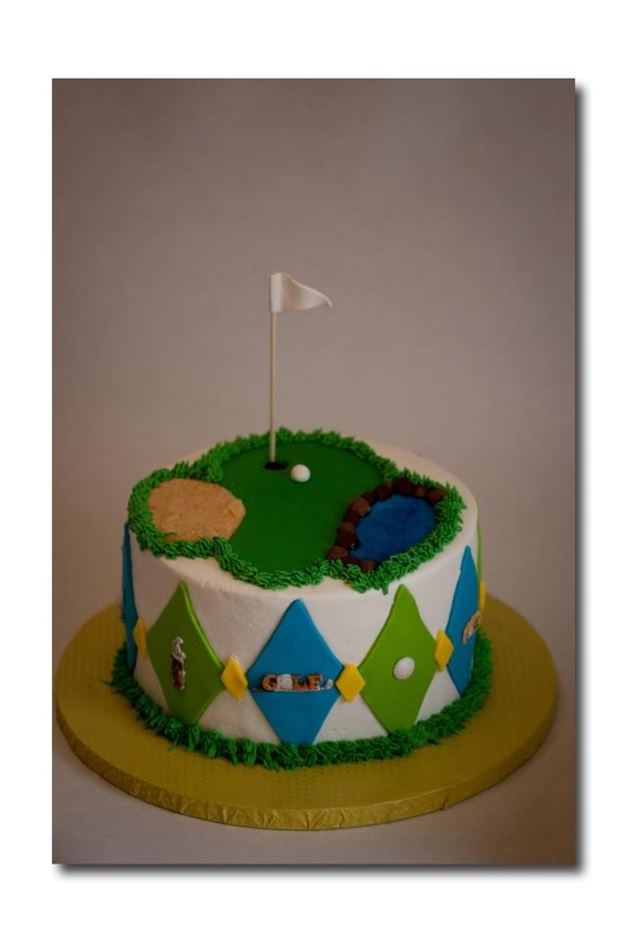 Birthday Cake For A 95 Year Old Golfer on Cake Central