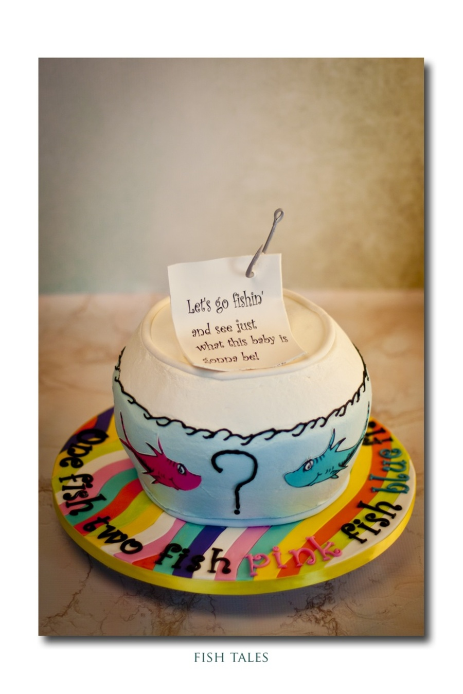 Cake Central Edible Images : Gender Reveal Cake Dr Suess Theme For The Nursery All ...
