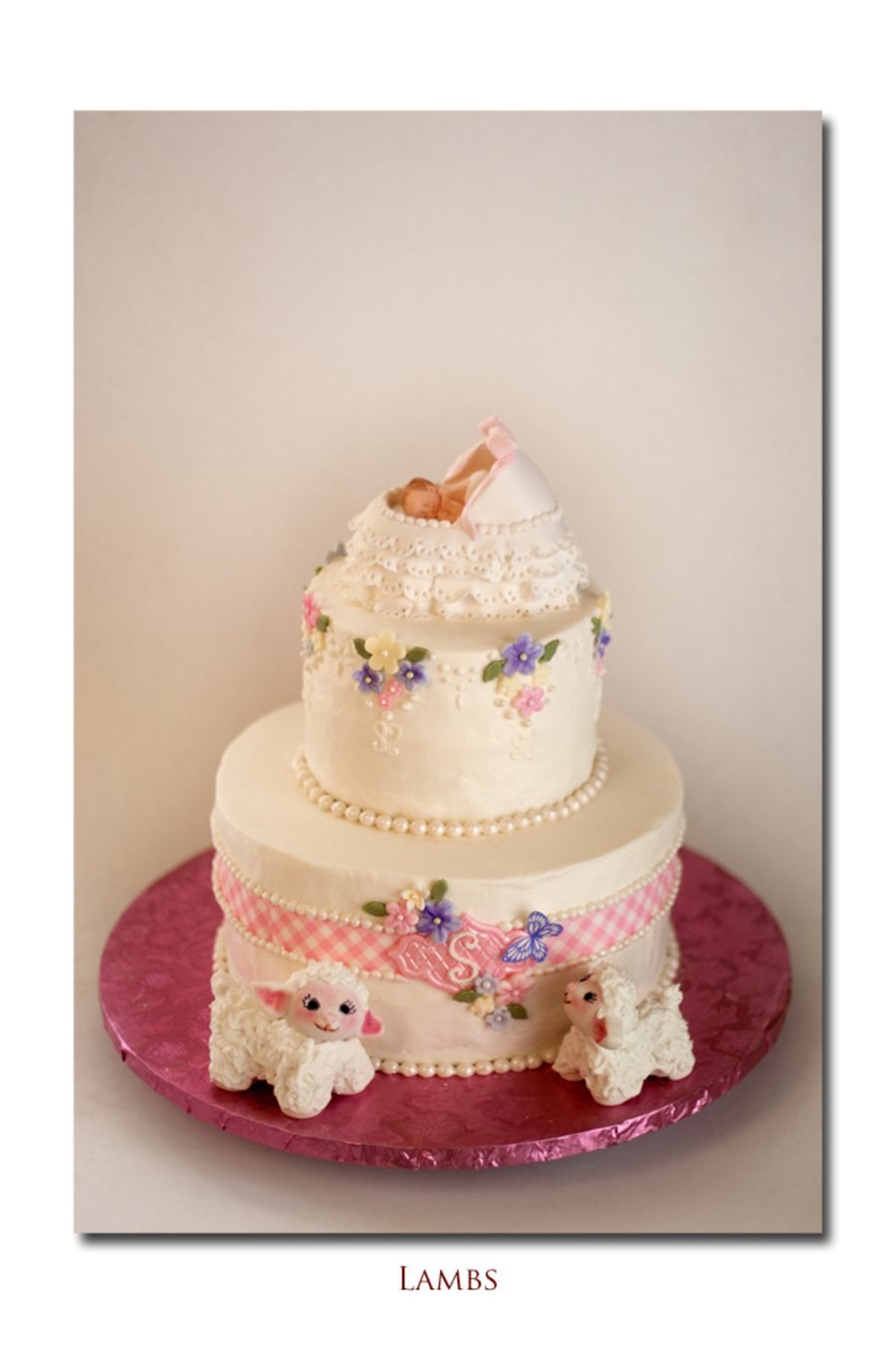 Vintage Looking Baby Shower Cake Cakecentral